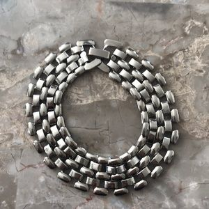 Jewelry - Sterling Silver Plated Panther Link Bracelet